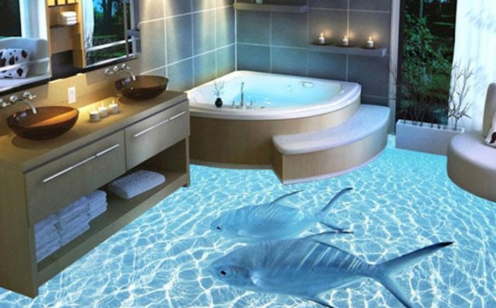 Океан в ванной и кухне